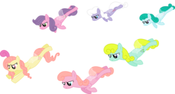 Size: 5724x3083 | Tagged: safe, artist:kaylathehedgehog, forget me not, honeysuckle, lily (g1), morning glory, peach blossom, rosedust, flutter pony, g1, female, g1 to g4, generation leap, queen rosedust, simple background, transparent background, vector