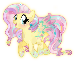 Size: 3707x3000 | Tagged: safe, artist:theshadowstone, fluttershy, crystal pony, pony, crystallized, female, rainbow power, simple background, solo, this isn't even my final form, transparent background, vector