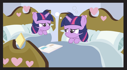 Size: 1050x584 | Tagged: bed, edit, filly, meme, safe, self ponidox, twilight sparkle