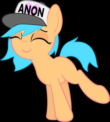 Size: 1353x1500 | Tagged: source needed, safe, artist:anonymous, edit, oc, oc only, oc:little league, earth pony, pony, /mlp/, 4chan, blank flank, female, filly, freckles, hat, heart, solo