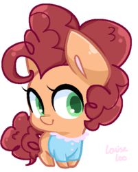 Size: 466x581 | Tagged: safe, artist:rivalcat, oc, oc only, oc:cherry pie, cute, female, filly, offspring, parent:cheese sandwich, parent:pinkie pie, parents:cheesepie, solo