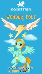Size: 1096x1920 | Tagged: safe, artist:girlieginger, lightning dust, female, solo, wonderbolts