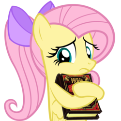 Size: 1025x1024 | Tagged: safe, artist:muddyfudger, artist:zacatron94, edit, fluttershy, pegasus, pony, adorkable, alternate hairstyle, animal farm, book, bow, cute, dork, egghead, female, frown, hair bow, hug, mare, meme, nerd pony, parody, ponytail, sad, shyabetes, simple background, solo, this will end in tears, transparent background, vector