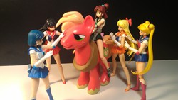 Size: 3264x1840 | Tagged: aino minako, artist:jaymanney4life, big macintosh, big macintosh gets all the ladies, big macintosh gets all the mares, earth pony, harem, hino rei, kino makoto, male, mizuno ami, pony, safe, sailor jupiter, sailor mars, sailor mercury, sailor moon, sailor venus, stallion, toy, tsukino usagi