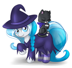 Size: 1280x1202 | Tagged: artist:askbubblelee, cat, clothes, costume, cute, nightmare night, oc, oc:bubble lee, oc:imago, oc only, safe, socks, solo, striped socks, tumblr, weapons-grade cute, witch