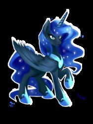 Size: 600x800 | Tagged: safe, artist:anightlypony, nightmare moon, princess luna, solo