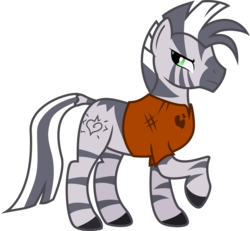 Size: 3242x3000 | Tagged: safe, artist:brisineo, oc, oc only, oc:xenith, zebra, fallout equestria, clothes, fanfic, fanfic art, female, mare, simple background, solo, transparent background, vector, zebra oc