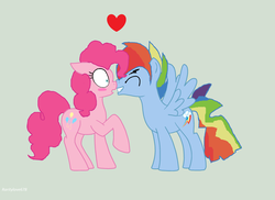 Size: 2944x2144 | Tagged: safe, artist:artistrarity, pinkie pie, rainbow dash, blushing, female, half r63 shipping, heart, male, pinkieblitz, pinkiedash, rainbow blitz, rule 63, shipping, solo, straight