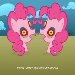 Size: 3000x3000 | Tagged: album cover, artist:purpletinker, earth pony, female, hipgnosis, mare, parody, pink floyd, pinkie pie, ponified, ponified album cover, pony, safe, solo, the division bell