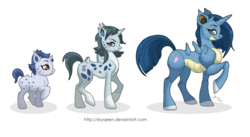 Size: 3570x1952 | Tagged: safe, artist:almairis, nidoqueen, nidoran (female), nidorina, pony, unicorn, crossover, evolution chart, family, female, filly, foal, mare, mother and daughter, pokémon, ponymon, raised hoof, simple background, socks (coat marking), transparent background, trio
