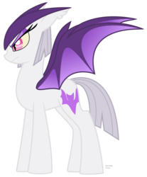 Size: 704x851 | Tagged: artist:faith-wolff, bat pony, colored wings, fanfic:the bridge, female, gamera, hyper gyaos, kaiju pony, mare, monster mare, ponified, pony, safe, simple background, slit pupils, solo, transparent background