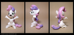 Size: 3800x1800 | Tagged: 3d print, artist:clawed-nyasu, oh come on, photo, safe, solo, sweetie belle