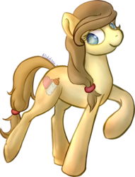 Size: 965x1265 | Tagged: artist:oddponi, button's adventures, button's mom has got it going on, looking at you, oc, oc:button's mother, oc only, raised hoof, safe, simple background, smiling, solo, transparent, transparent background