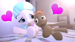 Size: 1600x900 | Tagged: safe, artist:darkie4646, button mash, coco pommel, 3d, cocomash, crack shipping, cute, female, gmod, male, shipping, straight