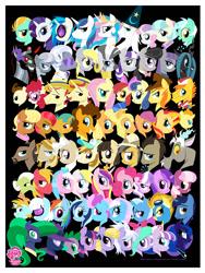 Size: 960x1280   Tagged: safe, artist:amy mebberson, aloe, amber waves, amethyst star, apple bloom, applejack, babs seed, big macintosh, bon bon, braeburn, carrot cake, cheerilee, cheese sandwich, cloudchaser, coco pommel, cup cake, daring do, derpy hooves, diamond tiara, discord, dj pon-3, doctor whooves, flam, flash sentry, flim, flitter, fluttershy, granny smith, hayseed turnip truck, hoity toity, holly dash, jeff letrotski, jesús pezuña, king sombra, lightning dust, lotus blossom, lyra heartstrings, mane-iac, mare do well, maud pie, mayor mare, minuette, ms. harshwhinny, night light, nurse sweetheart, octavia melody, photo finish, pinkie pie, pound cake, princess cadance, princess celestia, princess luna, pumpkin cake, queen chrysalis, rainbow dash, rarity, scootaloo, shining armor, silver spoon, snails, snips, sparkler, spike, spitfire, star swirl the bearded, sunset shimmer, sweetie belle, sweetie drops, time turner, trixie, twilight sparkle, twilight velvet, twist, vinyl scratch, wild fire, zecora, alicorn, crystal pony, earth pony, pegasus, pony, unicorn, zebra, everypony, my little pony logo, so much pony, wall of tags