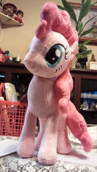 Size: 430x761 | Tagged: safe, pinkie pie, irl, nici, photo, plushie