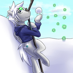 Size: 720x720 | Tagged: safe, artist:tarenest, oc, oc only, oc:zephyr wing, cosplay, jack frost, rise of the guardians