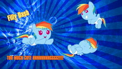 Size: 1920x1080 | Tagged: dead source, safe, artist:sir-teutonic-knight, rainbow dash, pegasus, pony, abstract background, baby, baby dash, baby pony, cute, diaper, female, filly, filly rainbow dash, flying, foal, hnnng, sleeping, solo, vector, wallpaper