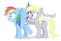 Size: 800x540 | Tagged: safe, artist:dm29, derpy hooves, rainbow dash, pegasus, pony, boop, butt boop, butt touch, duo, female, hoof on butt, mare, shocked, simple background, transparent background
