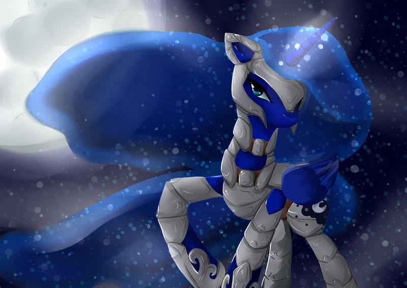 Human princess luna armor