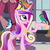 Size: 646x646 | Tagged: safe, screencap, constance, princess cadance, alicorn, bird, blue jay, pony, a canterlot wedding, birdsong, female, jewelry, mare, purple martin, regalia, songbird
