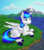 Size: 1254x1426 | Tagged: safe, artist:kristkc, oc, oc only, oc:rainy, pegasus, pony, cloud, cloudy, mountain, river, sky, solo
