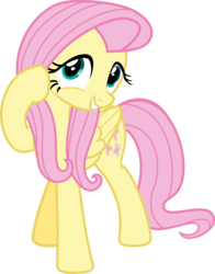 Size: 6000x7658 | Tagged: safe, artist:vulthuryol00, fluttershy, it ain't easy being breezies, absurd resolution, cute, female, shyabetes, simple background, solo, transparent background, vector