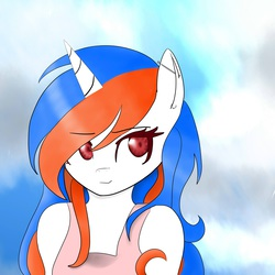 Size: 3000x3000   Tagged: safe, artist:thebrowserpony, oc, oc only, oc:safari, anthro, anthro oc, browser ponies, ear piercing, piercing, ponified, safari (browser), smiling, solo