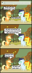 Size: 1024x2298 | Tagged: safe, artist:bronybyexception, applejack, rainbow dash, soarin', spitfire, ask honest applejack, comic, double entendre, female, implied shipping, implied threesome, innuendo, male, old cutie mark, pointy ponies, shipping, soarin' gets all the mares, soarindash, soarindashfire, soarinfire, spitdash, straight, wingboner