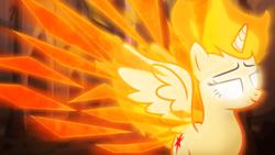 Size: 1920x1080   Tagged: safe, artist:aelioszero, artist:hawk9mm, artist:mithandir730, artist:thisismyphotoshoppin, twilight sparkle, alicorn, pony, castle of the royal pony sisters, collaboration, female, fire, glowing eyes, mane of fire, mare, twilight sparkle (alicorn), vector, wallpaper