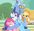 Size: 1209x1077 | Tagged: applejack, applejack's hat, blue flu, cowboy hat, discord, do not want, draconequus, earth pony, group hug, hape, hat, help, hug, pegasus, pinkie pie, pony, quintet, rainbow dash, rarity, safe, screencap, three's a crowd, unicorn