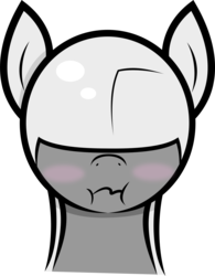 Size: 2773x3559 | Tagged: safe, artist:plone, original species, plane pony, pony, predator drone, :i, blushing, drone, plane, scrunchy face, simple background, solo, transparent background, wavy mouth