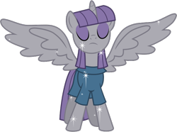 Size: 6721x5000 | Tagged: absurd res, alicorn, artist:nano23823, eyes closed, maudicorn, maud pie, pony, race swap, safe, simple background, solo, sparkles, spread wings, transparent background, vector