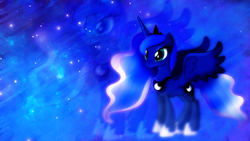 Size: 1920x1080 | Tagged: safe, artist:sgtwaflez, artist:theshadowstone, princess luna, solo, space, wallpaper