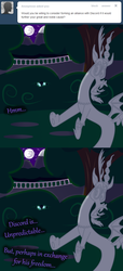 Size: 1000x2198 | Tagged: safe, artist:azurek, discord, nightmare moon, ask princess moon, comic, tumblr