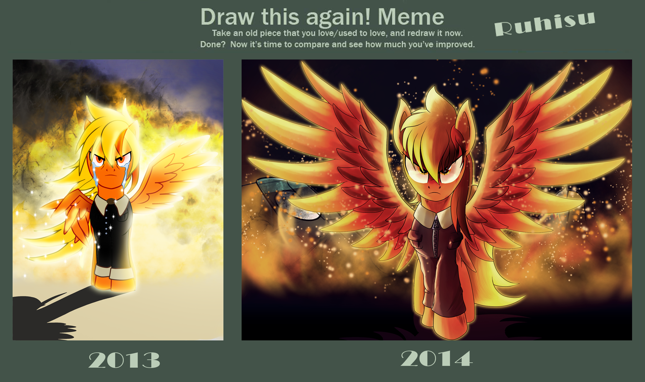786092 Angry Artist Ruhisu Draw This Again Fire Front View