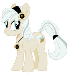 Size: 781x857 | Tagged: artist:dbkit, earth pony, female, freckles, hairband, mare, necklace, oc, oc only, oc:penny platen, pony, safe