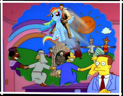 Size: 500x391   Tagged: safe, rainbow dash, alois hitler, lionel hutz, nathan drake, the simpsons, uncharted