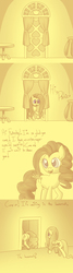 Size: 700x2600 | Tagged: safe, artist:lesang, fluttershy, pinkie pie, ask murdershy, plot, tumblr