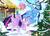 Size: 900x642 | Tagged: safe, artist:pixelkitties, trixie, twilight sparkle, alicorn, pony, blushing, christmas lights, christmas tree, cute, daaaaaaaaaaaw, featured image, female, forehead kiss, hanging, kiss mark, lesbian, levitation, magic, mare, mistletoe, raised hoof, scrunchy face, shipping, snow, tangled up, tree, twilight sparkle (alicorn), twixie, upside down, wink