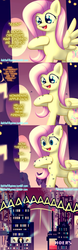 Size: 601x1920 | Tagged: safe, artist:pshyzomancer, fluttershy, mosquito, pegasus, pony, comic, female, implied applejack, lilo and stitch, mosquitoes, offscreen character, out of character, pleakley, ridiculously out of character, solo