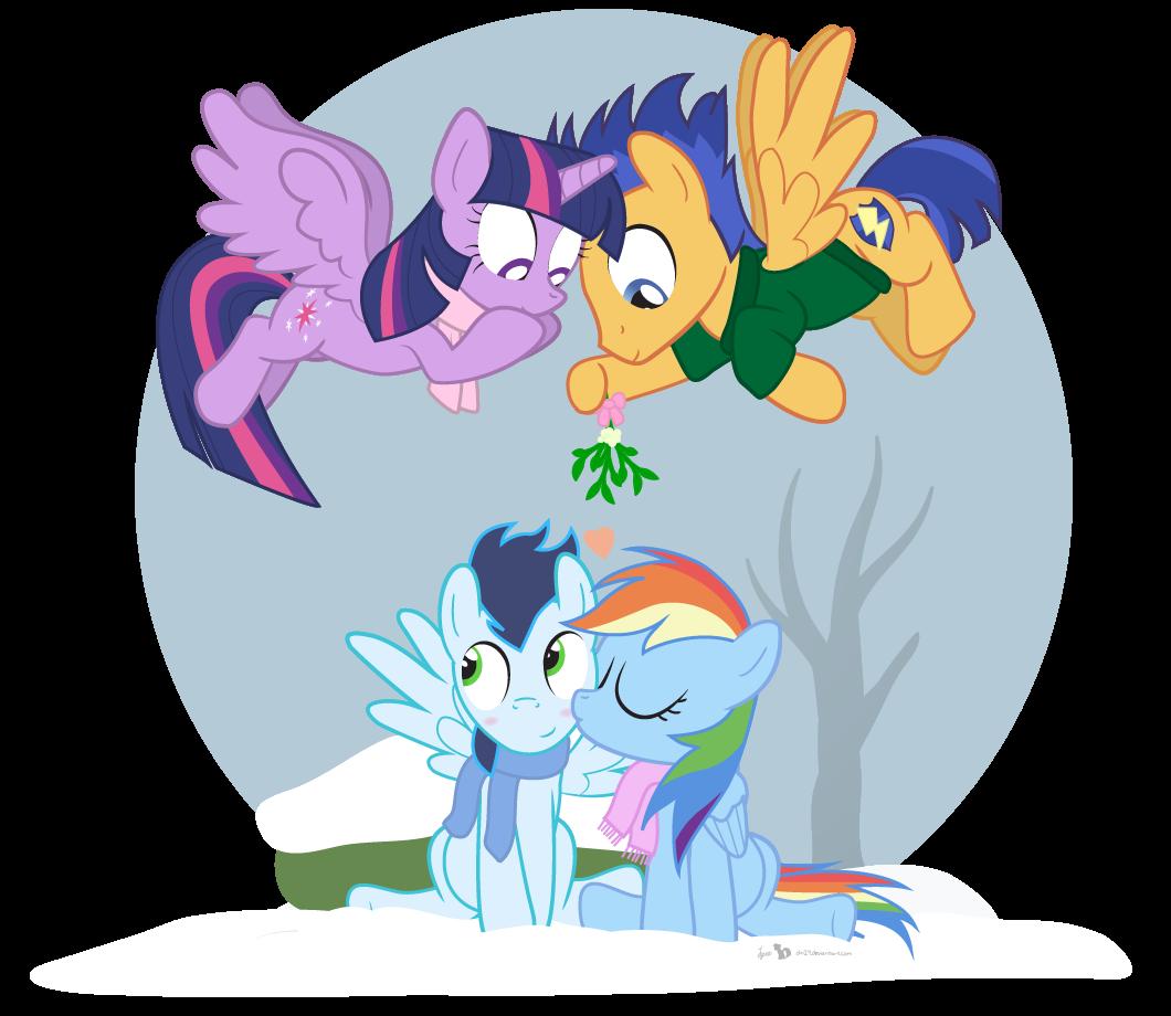 My little pony princess twilight sparkle and flash sentry kiss - photo#19