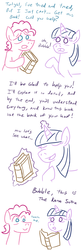 Size: 800x2400 | Tagged: safe, artist:jargon scott, pinkie pie, twilight sparkle, book, bubble berry, comic, half r63 shipping, kama sutra, rule 63, shipping, sparkleberry, twinkie