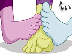 Size: 2048x1536   Tagged: safe, artist:bronypanda, adagio dazzle, aria blaze, sonata dusk, equestria girls, barefoot, feet, female, foot fetish, foot focus, footsie, lesbian, the dazzlings