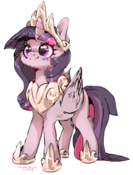 Size: 1280x1673   Tagged: safe, artist:carligercarl, twilight sparkle, alicorn, pony, cheek fluff, crown, cute, female, hoof shoes, jewelry, leg fluff, mare, peytral, regalia, simple background, solo, transparent background, twiabetes, twilight sparkle (alicorn)