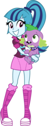 Size: 1342x3427 | Tagged: safe, artist:zeldarondl, sonata dusk, spike, dog, equestria girls, rainbow rocks, cute, love, shipping, simple background, smiling, sonatabetes, spike the dog, spikelove, spinata, transparent background, vector