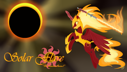 Size: 3840x2160 | Tagged: safe, artist:virenth, nightmare star, princess celestia, alicorn, pony, armor, female, flamberge, flaming sword, mane of fire, mare, solo, sword