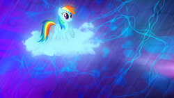 Size: 1920x1080 | Tagged: safe, artist:mrlolcats17, artist:sgtwaflez, rainbow dash, pegasus, pony, cloud, female, mare, solo, wallpaper