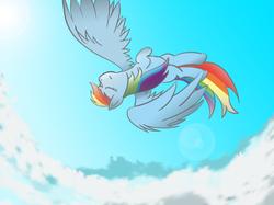 Size: 4267x3200   Tagged: safe, artist:rainb0wdashie, rainbow dash, falling, flying, freefall