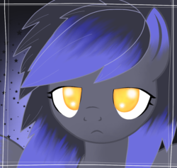Size: 1079x1024 | Tagged: artist:divergentassailant, frown, oc, oc:deft serenity, oc only, pegasus, pony, portrait, safe, sleepy, solo